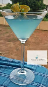 Minty Blue Cocktail
